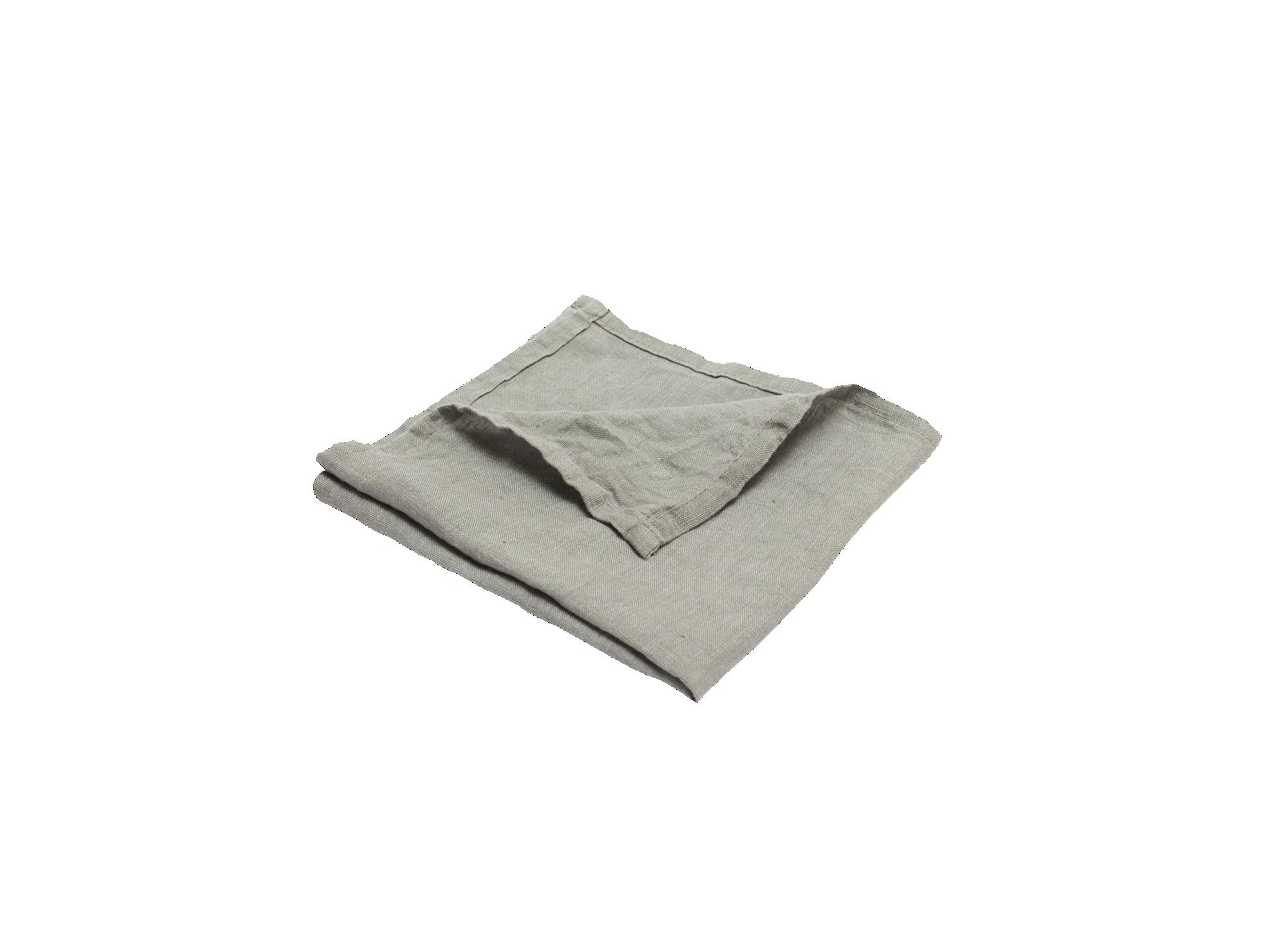 Serviette 40x40cm 100% lin coloris gris densite 150g/m2  lavable en m ...