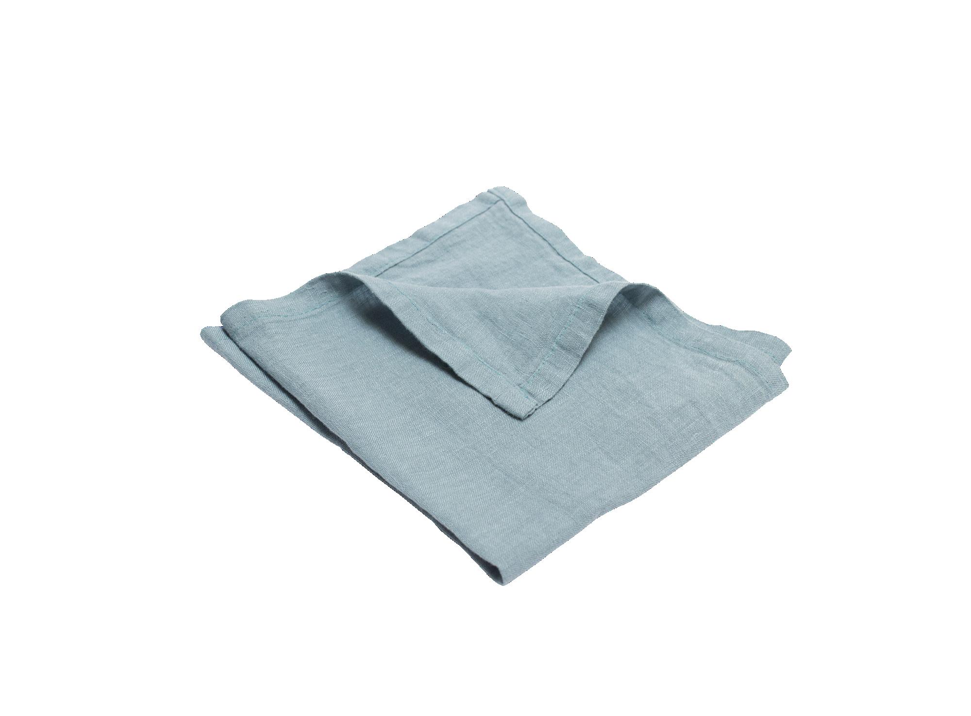 Serviette 40x40cm 100% lin coloris bleu ciel densite 150g/m2 lavable ...