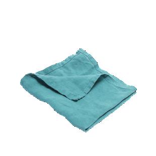 FLY-serviette lin 40x40 bleu canard