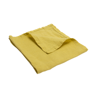 FLY-serviette lin 40x40 moutarde