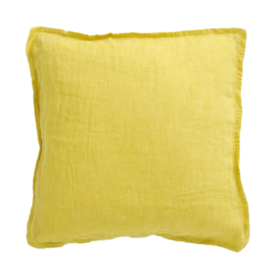 FLY-coussin lin 40x40 moutarde