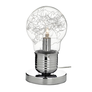 FLY-lampe a poser h28cm chrome/transparent