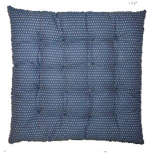 FLY-galette de chaise 40x40 bleu canard