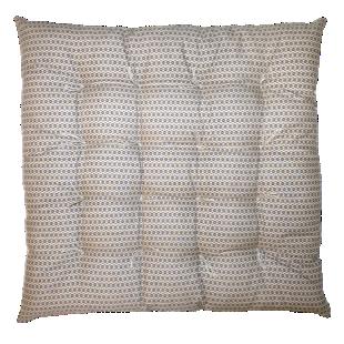 FLY-galette de chaise coton 40x40 beige