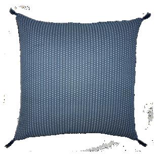 FLY-coussin coton 40x40 bleu