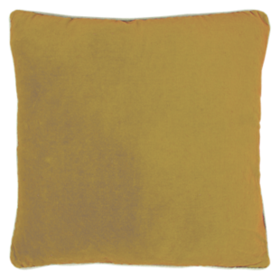 FLY-coussin velours 45x45 moutarde