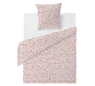 FLY-housse de couette coton 140x200+1taie rose