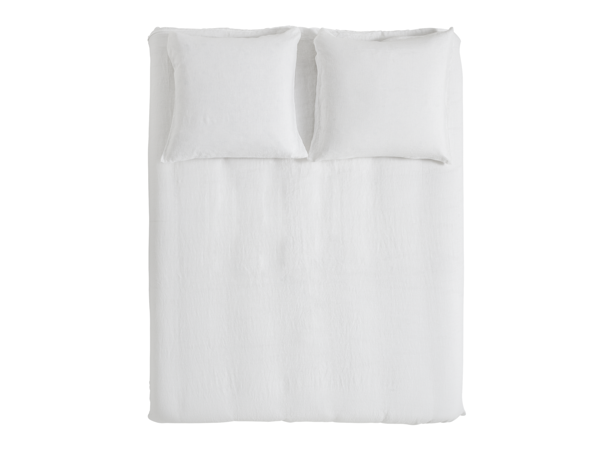 Housse de couette 220x240cm 2taies lin blanc fly for Housse de couette lin blanc