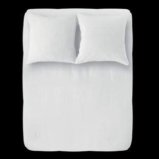 FLY-housse de couette 240x260cm + 2taies lin blanc