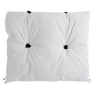 FLY-duvet fines rayures 100x180 ivoire/noir