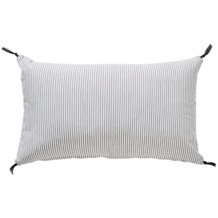 FLY-coussin fines rayures 30x50 ivoire/noir
