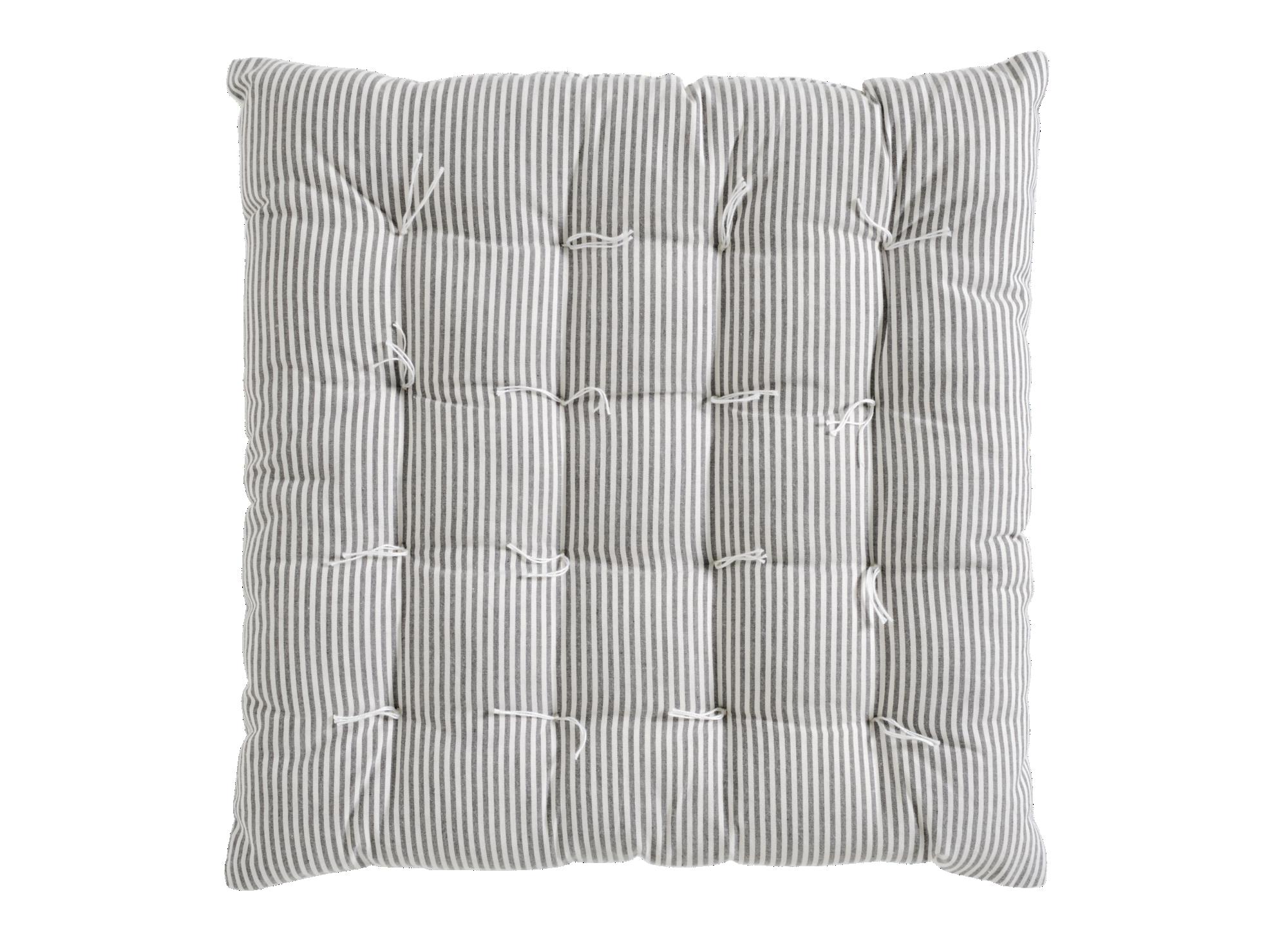 Galette 40x40 100% coton coloris ivoire/noir  non lavable en machine  ...