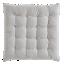 FLY-galette de chaise coton 40x40 ivoire/noir