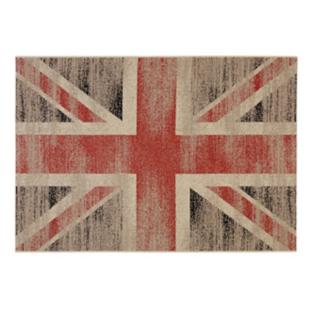 FLY-tapis 160x230 bleu/rouge/ecru