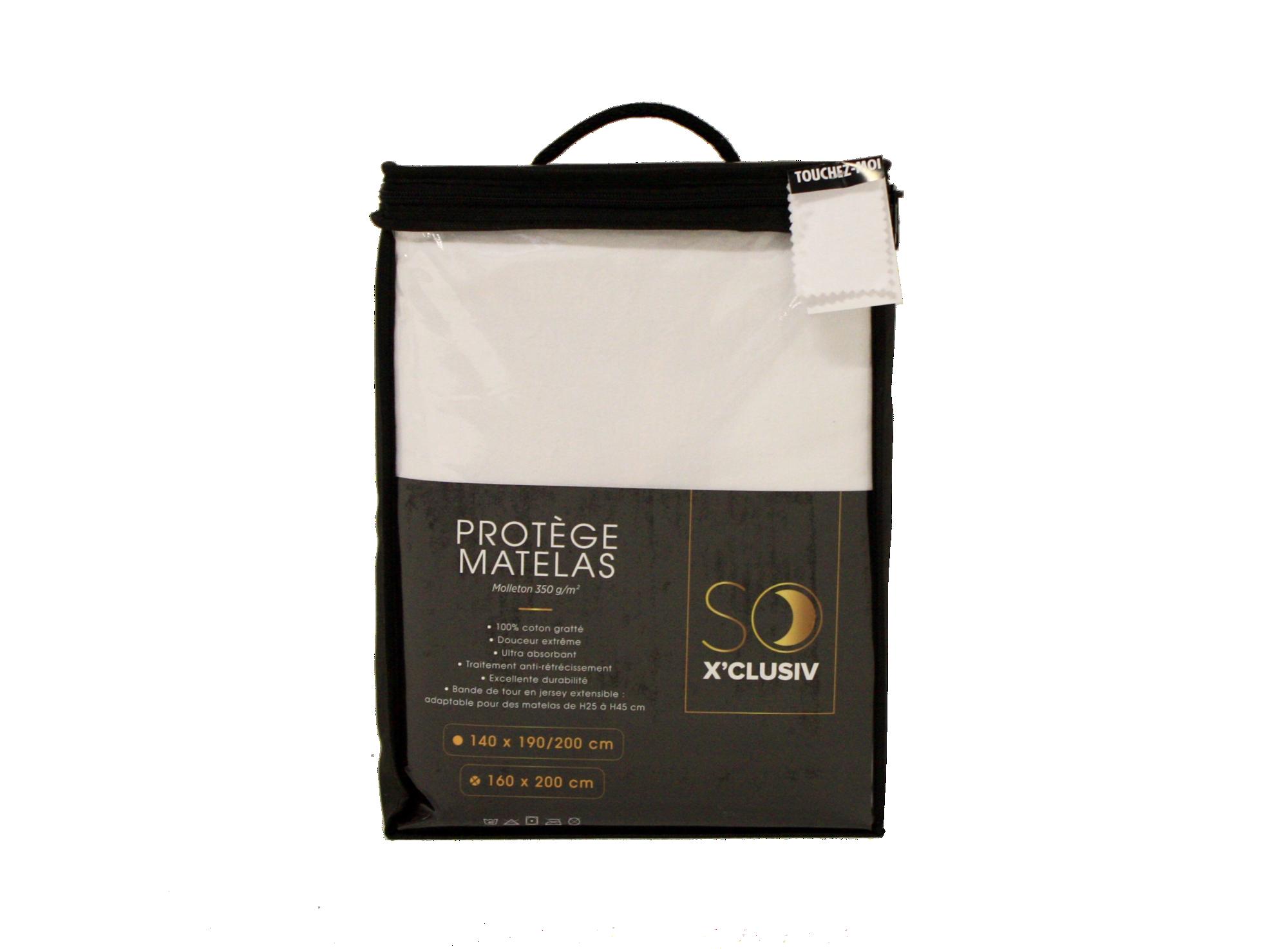 Protege matelas en molleton d350 g/m2. 100 % coton gratte.  bande de  ...