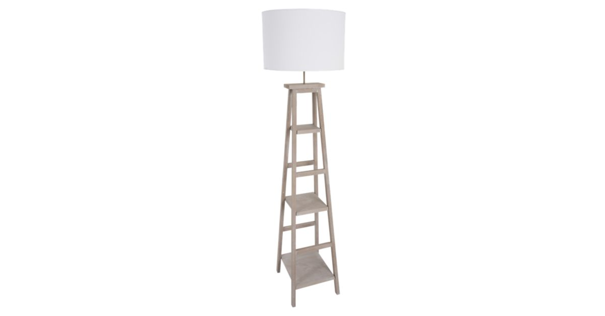 lampadaire terminalia coton h162 blanc lampadaire. Black Bedroom Furniture Sets. Home Design Ideas