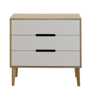 FLY-commode chene/laque blanc