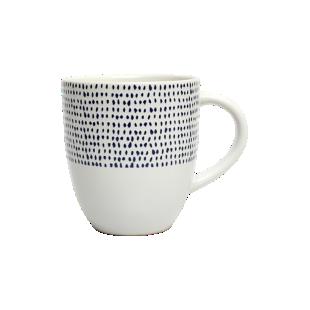 FLY-mug 35 cl blanc/bleu