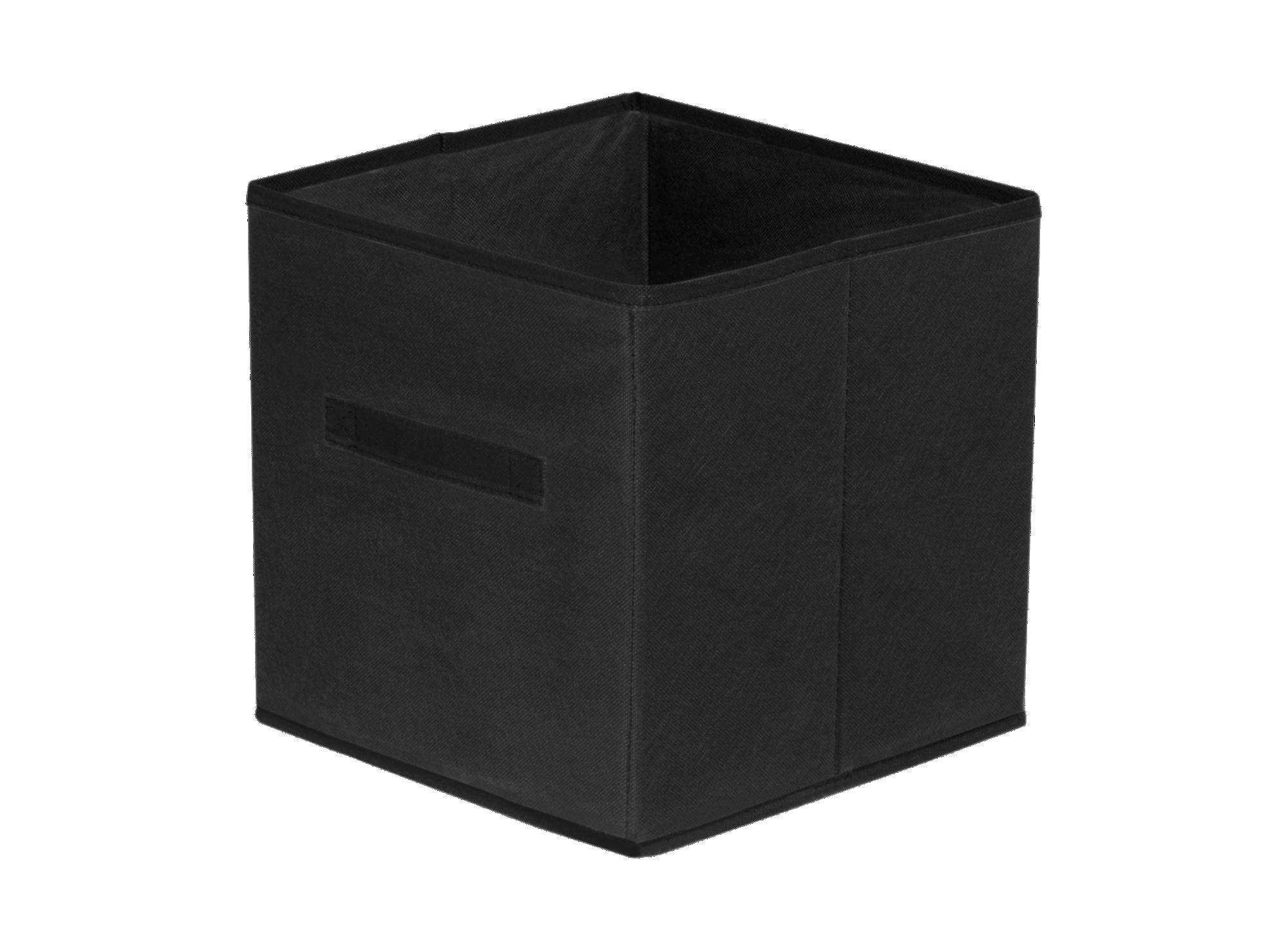 Panier de rangement pliable - intisse coloris noir