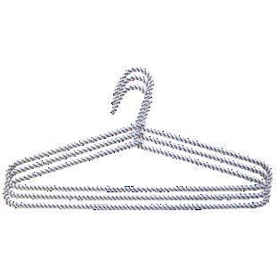 FLY-lot de 3 cintres corde noir/blanc
