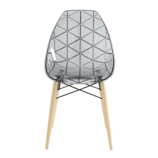 FLY-chaise choque coloris fume