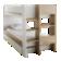 Lit pour couchage 90x200 structure et pietement en panneau de particu ...