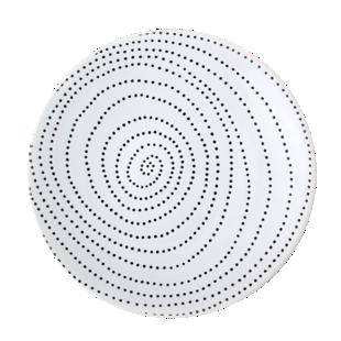 FLY-assiette plate d27cm blanc/bleu