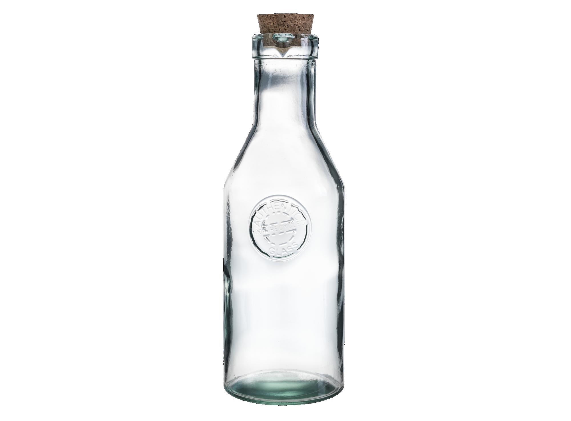Bouteille 1l en verre recycle - resiste au lave-vaisselle