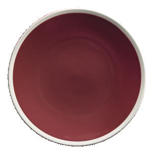 FLY-assiette plate d27,5cm bordeaux