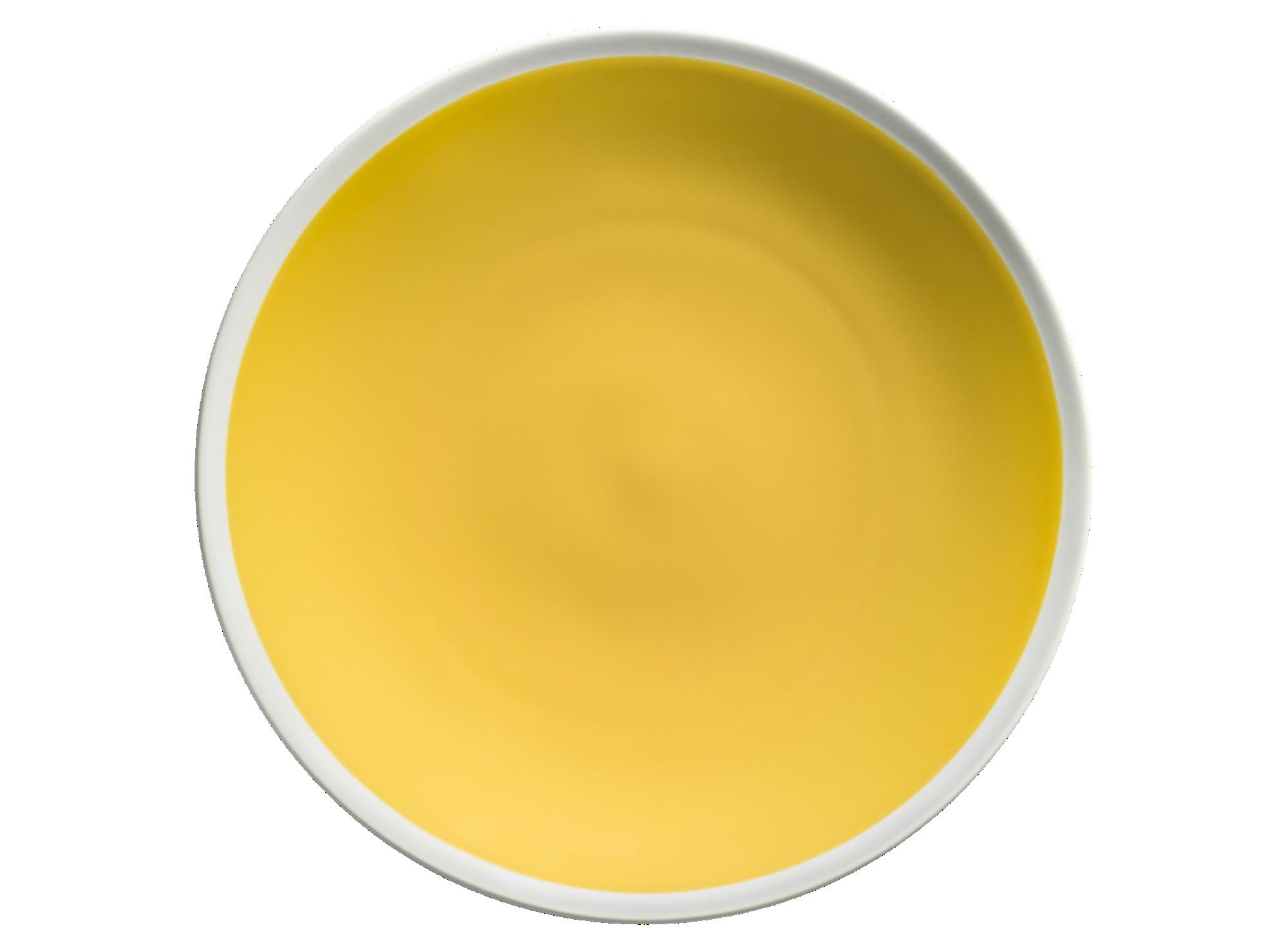 Assiette plate d27.5cm en gres coloris jaune. resiste au lave-vaisse ...