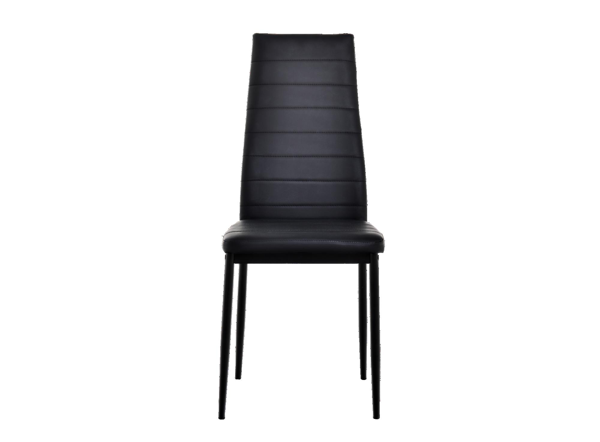 Chaise pu noir chaise table chaise meuble fly for Chaise noir fly
