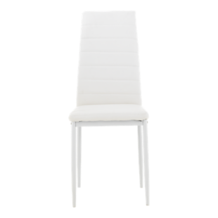 FLY-chaise pu blanc