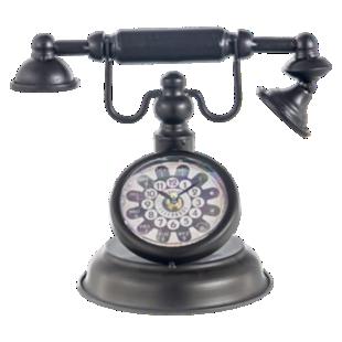 FLY-horloge deco telephone h23cm