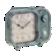 Horloge h19cm en forme de radio coloris gris - fonctionne avec 1 pile ...