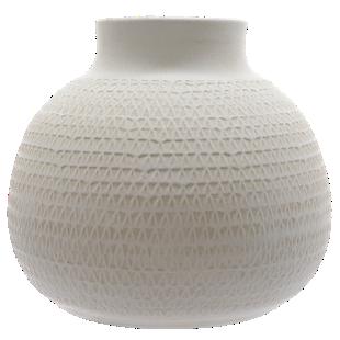 FLY-vase terre cuite h21cm blanc