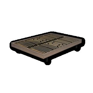 FLY-sommier en kit 140x190 cm chene grise