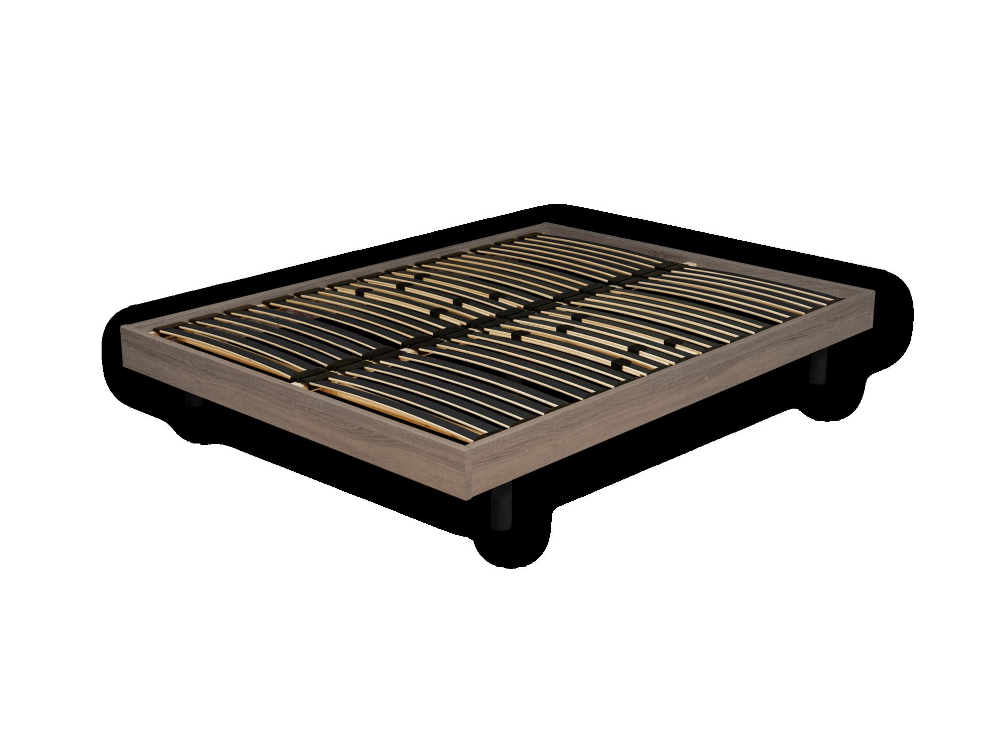 Sommier en kit : cadre sommier en panneaux de fibres de moyenne densi ...