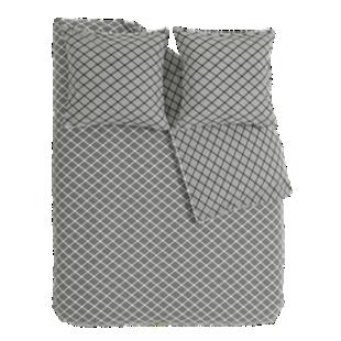 FLY-housse de couette 220x240cm+2taies blanc/noir