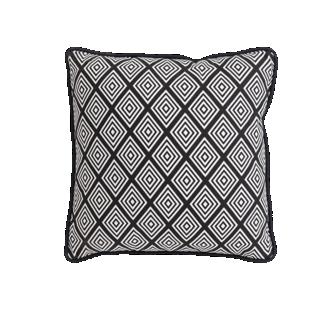 FLY-coussin coton 40x40cm noir/blanc