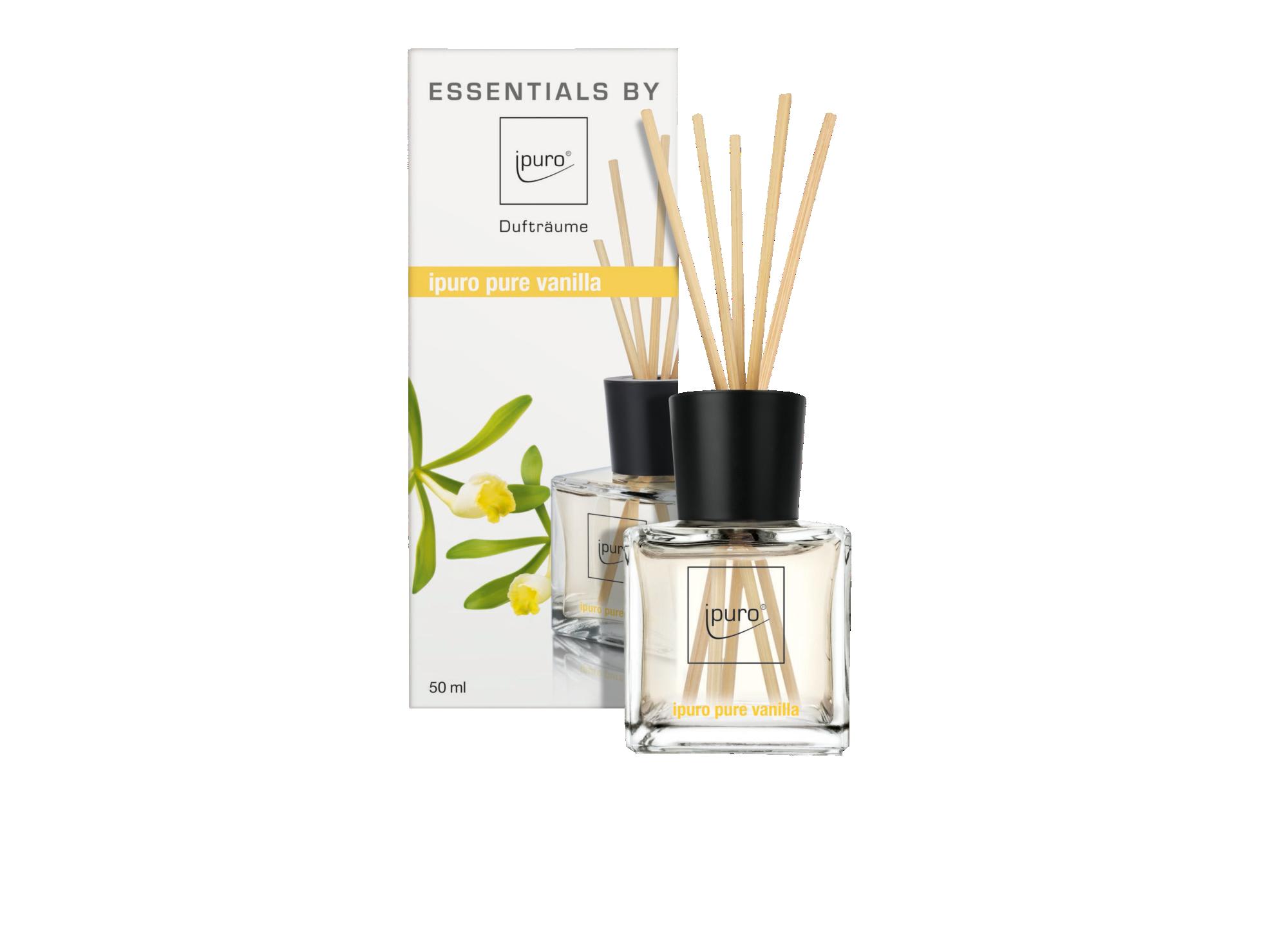 Diffuseur de parfum senteur vanille - contenance 50ml - vendu avec 12 ...