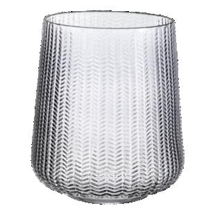 FLY-vase en verre bleu h18.5cm