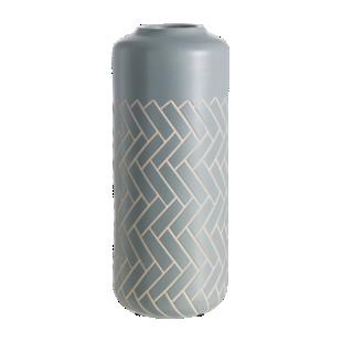 FLY-vase gris h35cm en faience