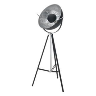 FLY-lampadaire trepied metal noir h166cm