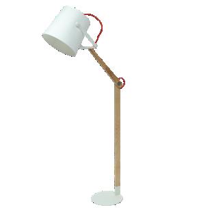 FLY-lampadaire h167cm bois/blanc