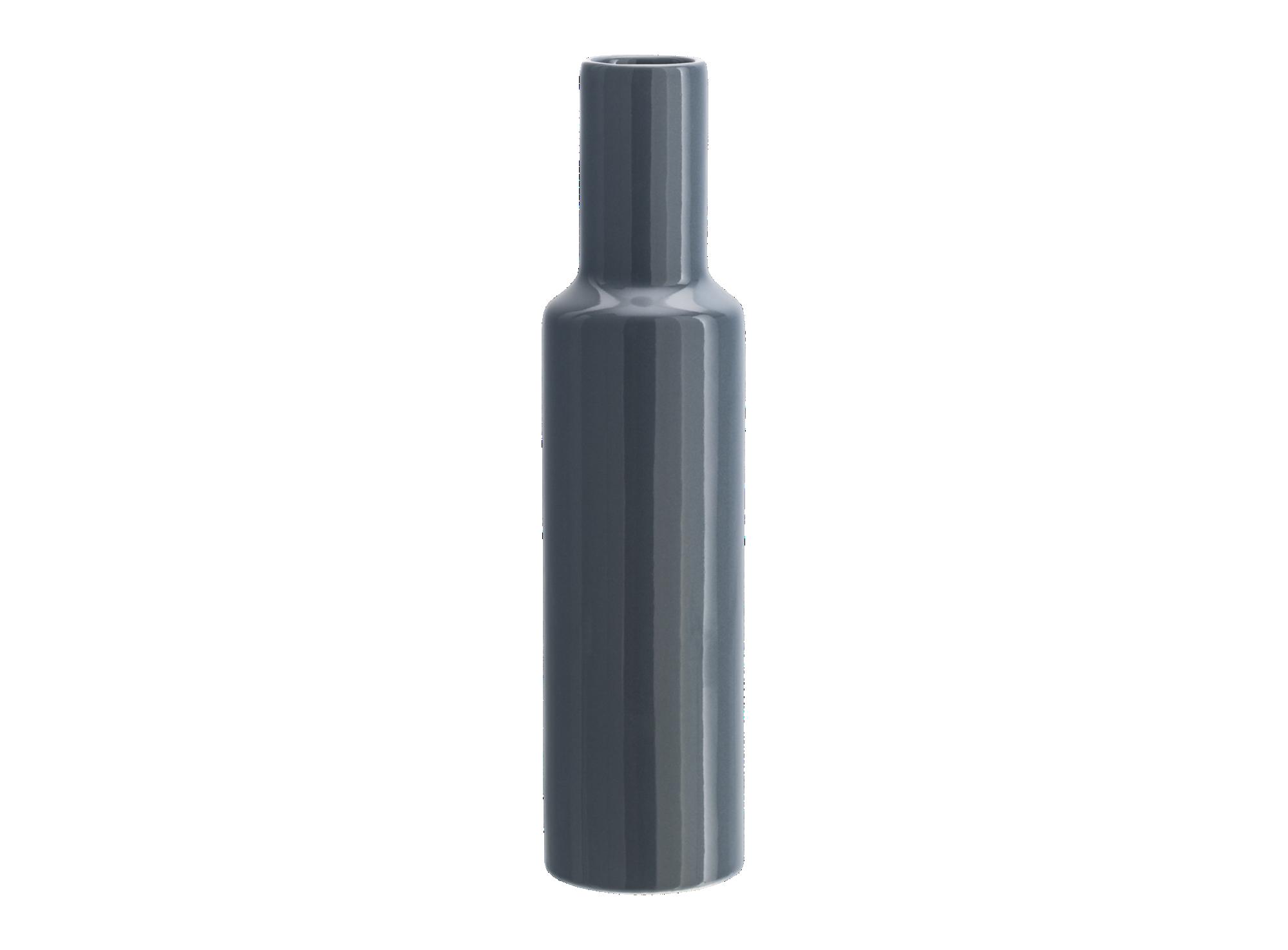 Vase h34cm en faience - colori s gris