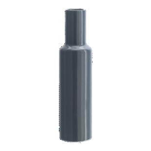 FLY-vase h34cm en faience gris