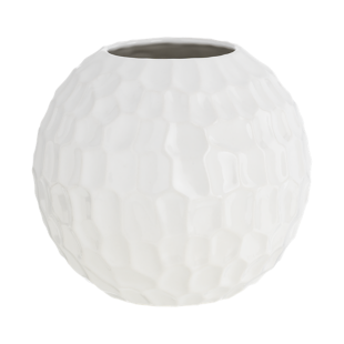 FLY-vase h18cm blanc avec relief