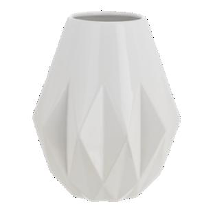 FLY-vase h28cm en faience blanc
