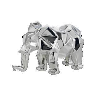 FLY-deco elephant h17cm chrome