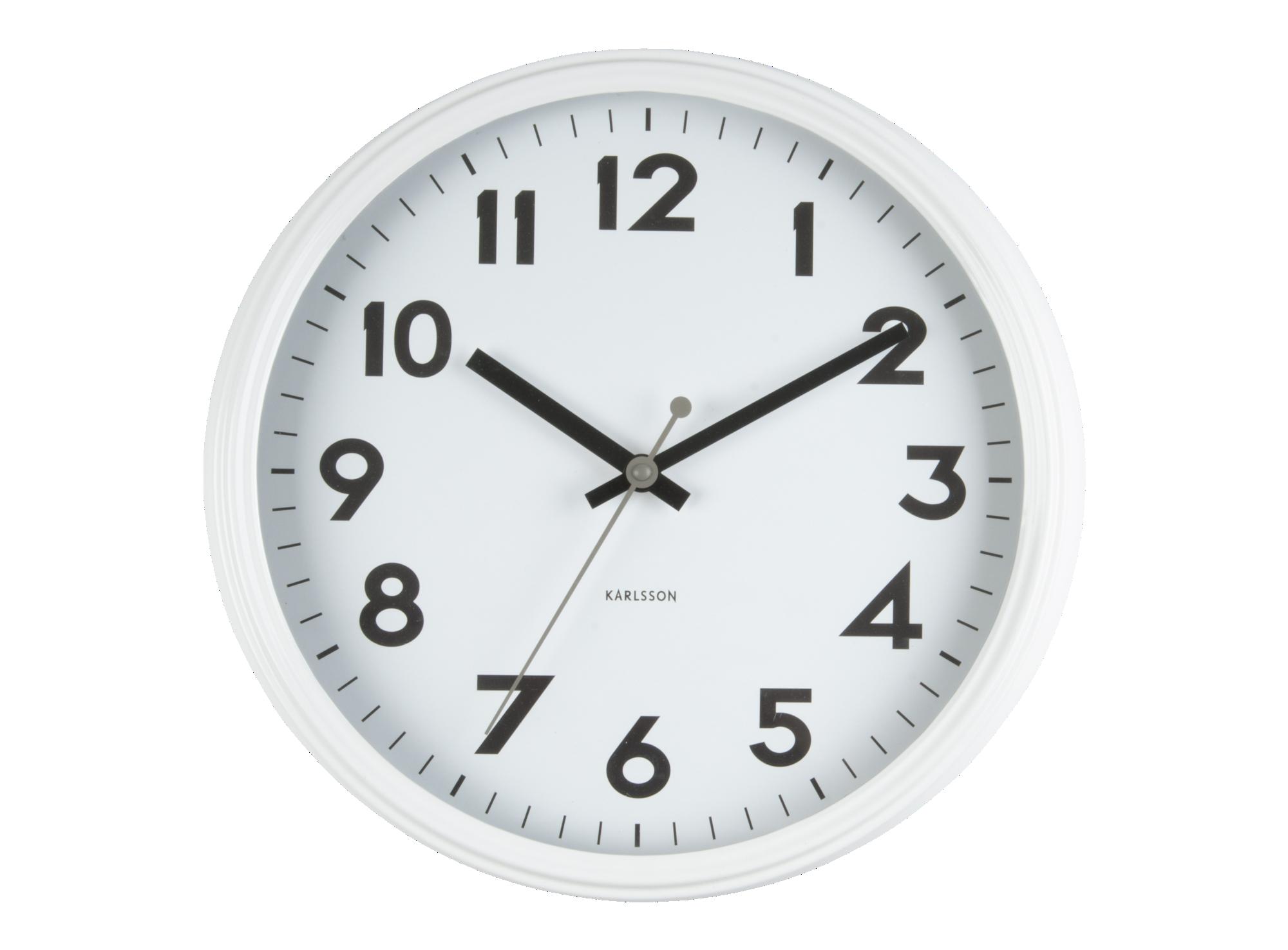 Horloge en fer d40cm - coloris blanc -fonctionne avec 1 pile aa non ...